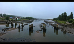Falling From Lofty Heights (K-Burn) Tags: bridge panorama mist mill abandoned reflections mud fife lowtide dismantledrailway guardbridge rivereden standrewsrailway
