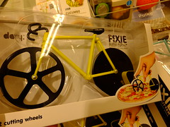 Fixie Pizza Cutter (stevenbrandist) Tags: holiday bike bicycle shopping spain espana alicante departmentstore fixie pizzacutter costablanca familyholiday elcorteingles