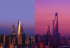 Shanghai Tower 2012-2014 (·JERRYANG·) Tags: world china city building tower skyline architecture skyscraper cityscape shanghai district landmark center cbd 中国 上海 pudong financial 陆家嘴 jinmao construct 金茂 lujiazui swfc 浦东 shanghaitower 环球金融中心 摩天楼 上海中心