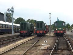 Lineup at Beekbergen, August 2, 2014 (cklx) Tags: amsterdam 600 500 excursion apeldoorn beekbergen vsm 9802 9908 locon traintour bakkies railexperts