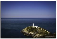 SOUTH STACK LIGHTHOUSE (vicki127.) Tags: sea lighthouse grass wales rocks bluesky vicki anglesey burrows digitalcameraclub flickraward ilovemypics lightroom4 vicki127 adobephotoshopcs6 cannon650d