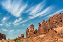 Those Western Skies (jessp.) Tags: blue sky clouds canon utah desert bluesky roadtrip diagonal jess moab archesnationalpark t4i jesspetro petrohoy businesscardchoice