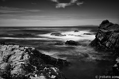 B&W Coastline (orgazmo) Tags: california longexposure monochrome landscapes blackwhite seascapes olympus pebblebeach 17miledrive pacificgrove omd em1 montereypeninsula mft mirrorless micro43s m43s omdem1 mzuiko1240mmf28pro