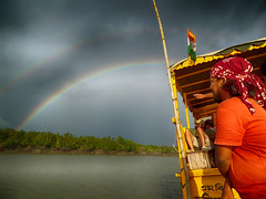 The Rainbow Twins (Kingshuk Mondal) Tags: cloud rainbow hdr kingshuk sundarban sundarbannationalpark kingshukmondal