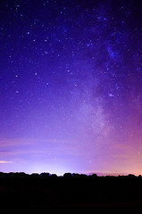 Summer night (mls2012) Tags: light summer sky luz night canon stars luces via cielo estrellas nocturna campo ladscape lactea 60d menaza