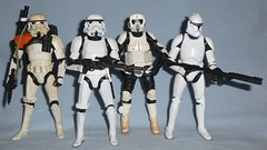 Black Series - Troopers (Darth Ray) Tags: 6 trooper black star sand inch scout troopers stormtrooper series biker wars clone hasbro