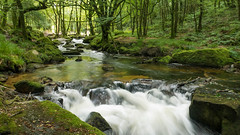 Golitha Falls (symzie) Tags: england river landscape countryside waterfall long exposure cornwall angle wide olympus panasonic micro 12mm fowey 43 cataract gx7