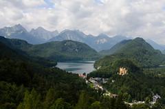 Looking out from Neuschwanstein (Josh Thompson) Tags: lake alps bavaria 1855mmf3556g hohenschwangaucastle d7000 lightroom5