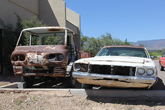 A pair makes two (twm1340) Tags: street arizona classic ford car shop plymouth az cottonwood rod aug custom 2014 econoline
