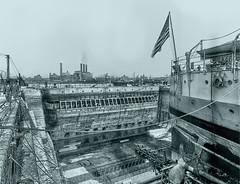Brooklyn Navy Yard, Dry Dock No.4 Gate - 1910 (Are Oh Why) Tags: newyorkcity brooklyn gate 4 landmark historic eastriver drydock navyyard historiclandmark brooklynnavyyard historicarchitecture newyorkcitylandmarkspreservationcommission drydockgate historicpreservationlandmark