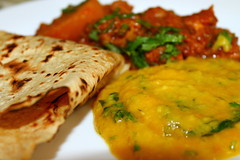 Potato and chicken curry, lentils and chapati (WorldClick) Tags: food chicken canon photography eos photo salad yummy flickr photographer indian spice salt vivid dal powder east photograph delight pakistani chilli capture turmeric cumin eastern lentils haldi flavour daal cusine jeera chapati kima phototgraphy potao dhaniya 1100d zeera canoneos1100d worldclick potatoandchickencurry lentilsandchapati