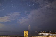 Sept 4 (rowe_rosemary) Tags: longexposure nightphotography beach night clouds mississippi dark stars darkness south earlymorning nightsky amateur nikond3200 mississippigulfcoast nightclouds d3200