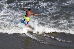 Riding the Wave (GateCityRadio) Tags: ocean myrtlebeach surf waves pentax southcarolina surfing myrtle k7 pentaxsmc pentaxda 55300 pentaxian oceanreefresort pentaxart pentaxk7 pentaxzoom