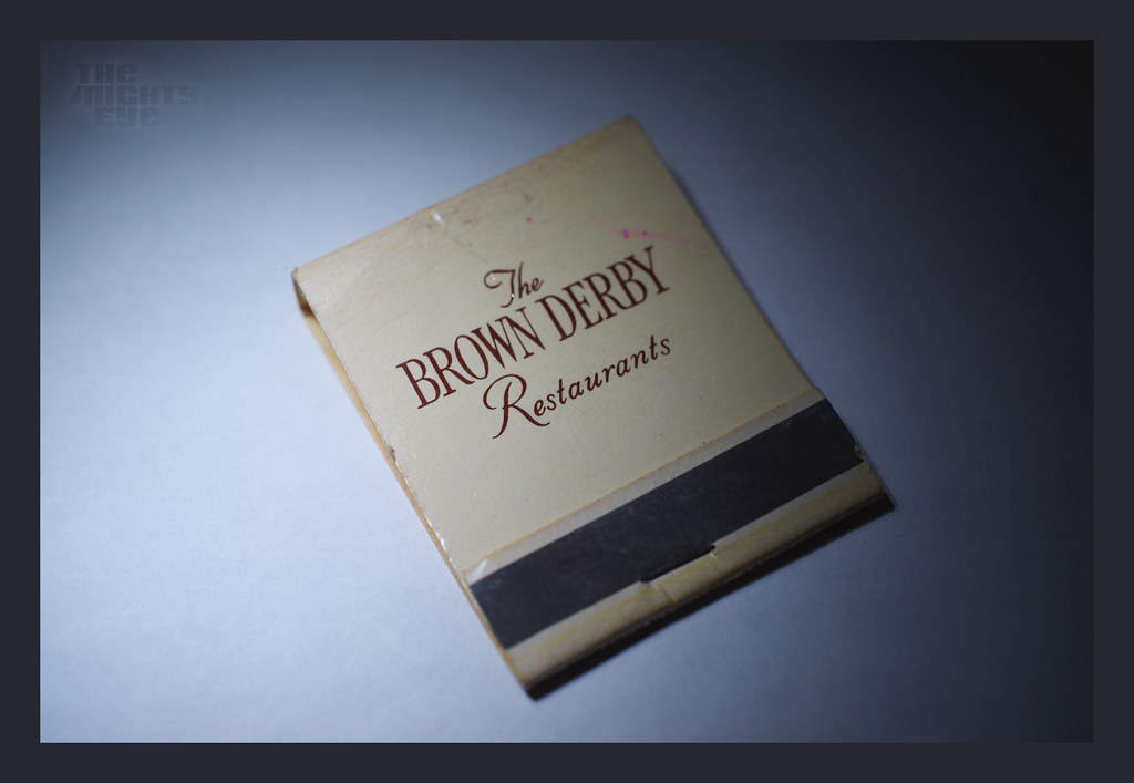 The worlds best photos of matchbook and matches flickr hive mind matchbook brown derby front themightyeye tags vintage fire restaurant cigarette smoke colourmoves