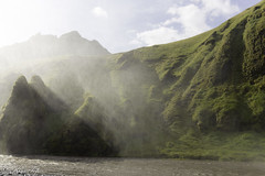 The dust from Skogafoss (Toftus Photography) Tags: water rain river island waterfall iceland south national dust geographic nationalgeographic skogafoss
