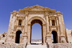 Hadrian's Arch of the Greco-Roman city of Gerasa, Jerash, Jordan