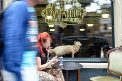 Madame de Pompadour (Bert de Vries Photography) Tags: torso halflength vrouw kapsel roken bewogen haar zitten 010200 bewegingsonscherpte halftotaal