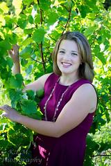 Grape Vine (Belcantosoprano) Tags: summer senior girl beautiful smile fun outside outdoors vineyard pretty gorgeous plum makeup lovely seniorpicture kirstie