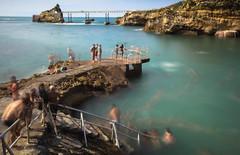 EPHEMERAL (Rober1000x) Tags: longexposure sea summer cliff france beach europa europe biarritz 2014 aquitania