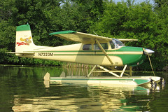 N7223M Cessna 175 @ Oshkosh Seaplane Base 31-Jul-2014 by Johan Hetebrij (Balloony Dutchman) Tags: base seaplane cessna oshkosh 175 floatplane 2014 c175 n7223m