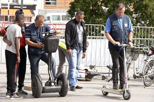 Les habitants et usagers des transports ont pu s'essayer aux véhicules à assistance électrique (vélos, trotinettes, gyropodes)