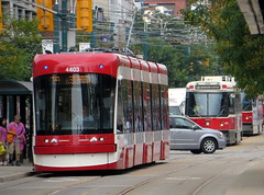 New TTC Streetcar's debut (Sean_Marshall) Tags: toronto ontario ttc tram spadina streetcar bombardier spadinaavenue flexity