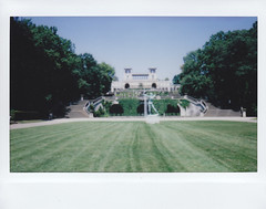 (Monica Forss) Tags: building berlin castle analog germany garden polaroid lawn instant potsdam instax fujiinstax200wide