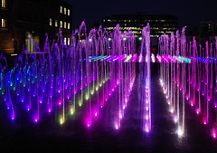 IMGP2092 (mattbuck4950) Tags: england london water night europe unitedkingdom july fountains 2014 londonboroughofcamden centralstmartinscollegeofartanddesign lenssigma18250mm camerapentaxk50