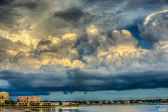 Crazy Clouds @ Dunedin Causeway, FL (dbubis) Tags: ocean storm beach clouds florida dunedin fl causeway meteorology cumulonimbus bubis dbphoto