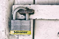 Obey Your Master (Jeremy Brooks) Tags: sanfrancisco california usa lock master photowalk padlock masterlock sanfranciscocounty photowalking analogefexpro eyeemadventuresf