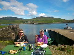 Local Development Officers at the Ulva Boathouse