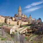 Anochecer junto a la presa de la Casa de la Moneda. Segovia