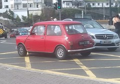 A Long Way From Home (occama) Tags: old uk red car austin denmark cornwall small plate mini cooper danish morris rare innocenti leyland