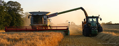 Down On The Farm (ajp~) Tags: panorama tractor canon landscape scotland wheat harvest crop agriculture northberwick 6d eastlothian combineharvester canon70300mmf456l alanjohnstone wwwalanjohnstonephotographycom
