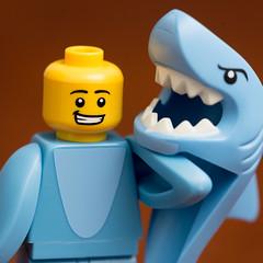 Sharks Off (Andrew D2010) Tags: shark minifigure sharksuitguy sharkman sharksuit suit lego series15