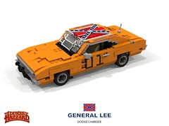 Dodge Charger 'General Lee' - The Dukes of Hazzard (lego911) Tags: dodge charger 1969 coupe hardtop chrysler corporation dukes hazzard county thedukesofhazzard generallee general lee 1960s classic tv television usa america v8 hillbilly moonshine auto car moc model miniland lego lego911 ldd render cad povray lugnuts challenge 108 9th birthday lugnutsturnsnine turns nine 61 thegreatchase great chase foitsop