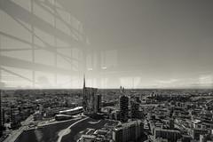 Skyline reflexes (Echoes89) Tags: milano milan skyline gae aulenti torre unicredit skyscraper palazzo della regione pirellone lombardia italia italy