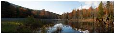 Monongahela National Forest Panorama (Geoff Sills) Tags: monongahela national forest reflection panorama sunset autumn nikon d700 35mm 14 geoffrey william sills geoff mountains west virginia
