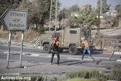 Clashes in Al rRam, West Bank, 9.10.2016 (activestills) Tags: eastjerusalem jerusalem westbank clashes israel violence occupation alram armyjeep stones ramallah youth topimages faizaburmeleh