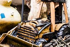 Tractor Temper (Thomas Hawk) Tags: cca california californiacollegeofthearts eastbay oakland usa unitedstates unitedstatesofamerica sculpture tractor