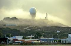 warning (SheffieldStar) Tags: defense pillarpointairforcestation radar prominent locallandmark ambience mist