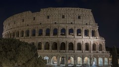 Lit Up (noname_clark) Tags: italy rome vacation honeymoon night dark colosseum longexposure