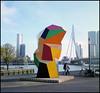 Rollie goes Rotterdam (06) (Hans Kerensky) Tags: rollei rolleiflex t model 3 tlr tessar 135 75mm lens kodak portra 160 film scanner plustek opticfilm 120 rotterdam october 2016 art marathon sculpture erasmus bridge
