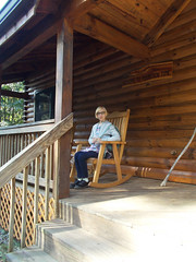 AVL 1177 (RANCHO COCOA) Tags: mountaintime carolinamornings marshill northcarolina vacation cabin frontporch rockingchair missy