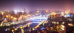 Chongqing Skyline - Eling Park - China (Rogg4n) Tags: china nightphotography night chongqing city cityscape architecture canoneos100d efs1018mmf4556isstm travel river bridge buildings asia nightscape landscape dawn twilight eling park skyline pagoda longexposure 重庆