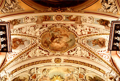 ceiling.......... (atsjebosma) Tags: church baroque barok farachurch ststanislaus details atsjebosma poznan poland polen 2016