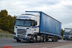 Scania R450 'Westmoor Transport' reg KU15 GJZ (erfmike51) Tags: scaniar450 artic truck curtainside euro6 lorry westmoortransport