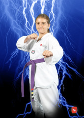 Intense lightning (Mountain Taekwondo) Tags: black blue bolt bright danger distance electrical electricity energy fierce flash lightning nature power powerful sky storm strike through thunder volt