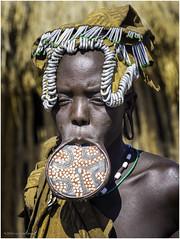 Mursi Tribe Woman (Luc V. de Zeeuw) Tags: clay corn ethiopia lipplates mun mursi omo omovalley plate tribe woman wood southernnationsnationalitiesandpeoplesregion