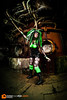 Suzan (Victor van Dijk (Thanks for 4M views!)) Tags: strobist female girl woman portrait gothic cybergoth cyberpunk punk goth cybergothic model saberstrip duisburg landschaftspark green lime fluor bright colors 815 fisheye 815mm industrial landschaftsparkduisburg fav fave faved favorite